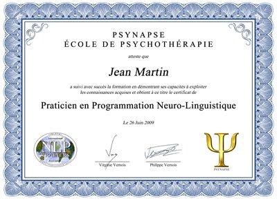Formation Praticien PNL Diplome