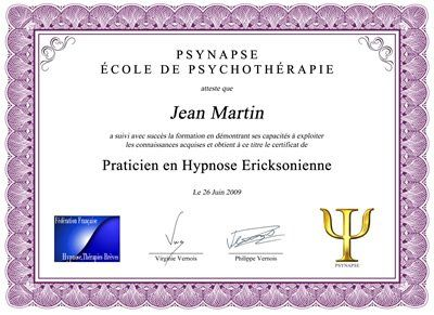 Formation Praticien Hypnose Diplome