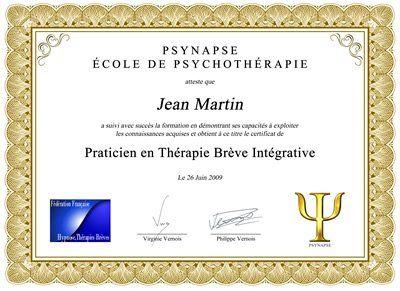 Formation Praticien Thérapie Brève Intégrative Diplome