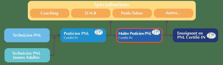 Formation Maître Praticien PNL Organigramme