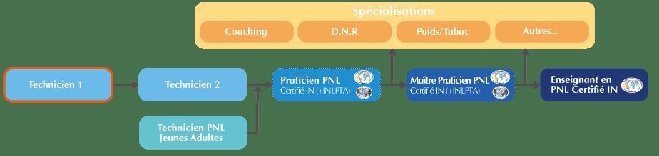 Formation Technicien PNL 1 (Base) Organigramme